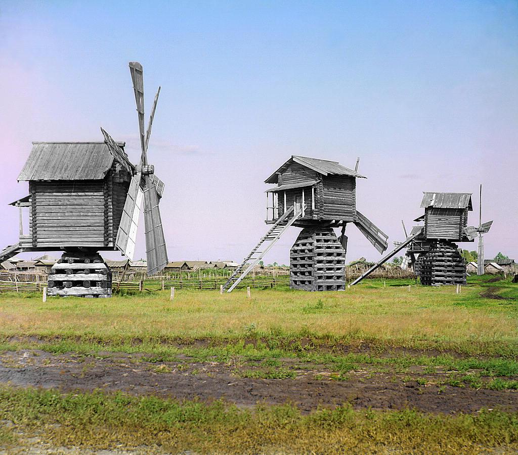 Molinos de madera en Tobolsk