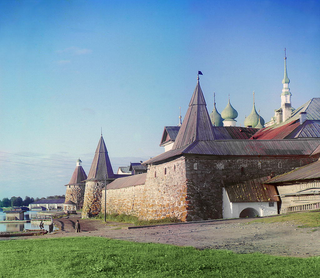 El Monasterio Solovetski en el Mar Blanco