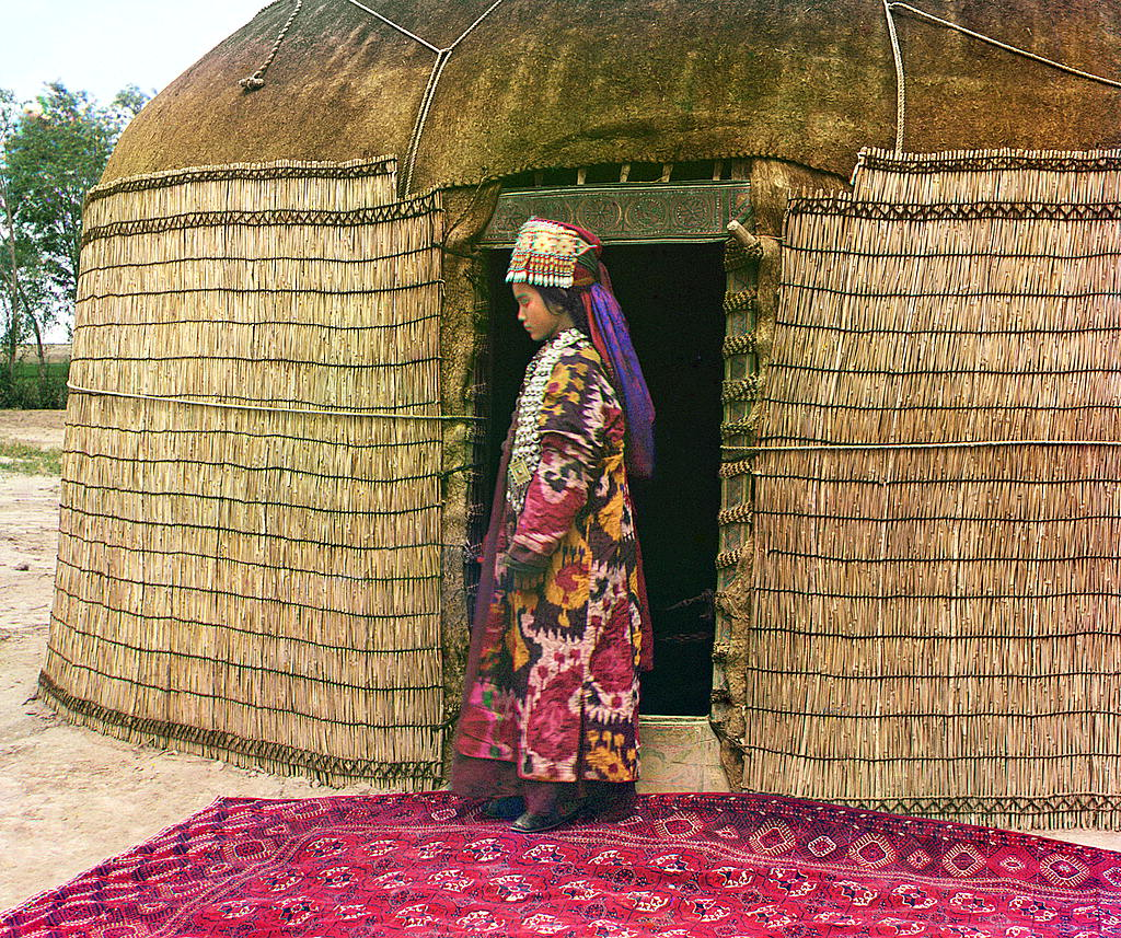 Una mujer de Uzbekistán